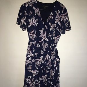 Banana Republic Floral Ruffle Wrap Dress